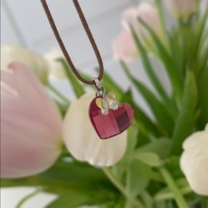Swarovski heart chocker pendant
